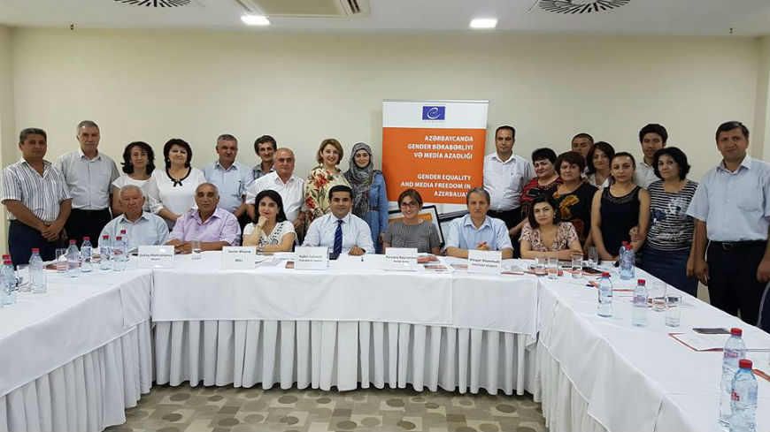Journalists in the regions of Azerbaijan trained on gender equality and media freedom