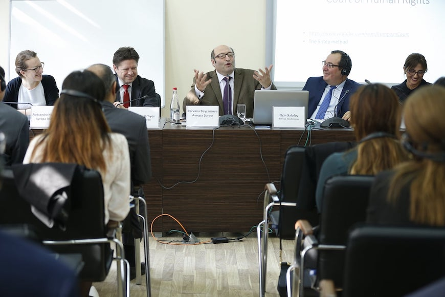 Azerbaijani judge candidates trained on Council of Europe standards on freedom of expression