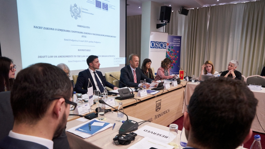 Roundtable on the Draft Law on Amendments to the Law on National Public Broadcasting Radio-Television of Montenegro (RTCG)