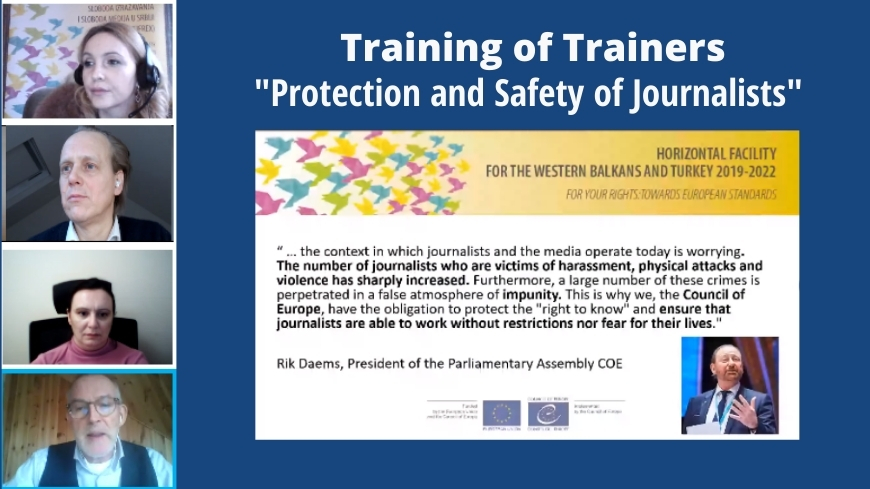 JUFREX2: Training of trainers on Protection and Safety of Journalists