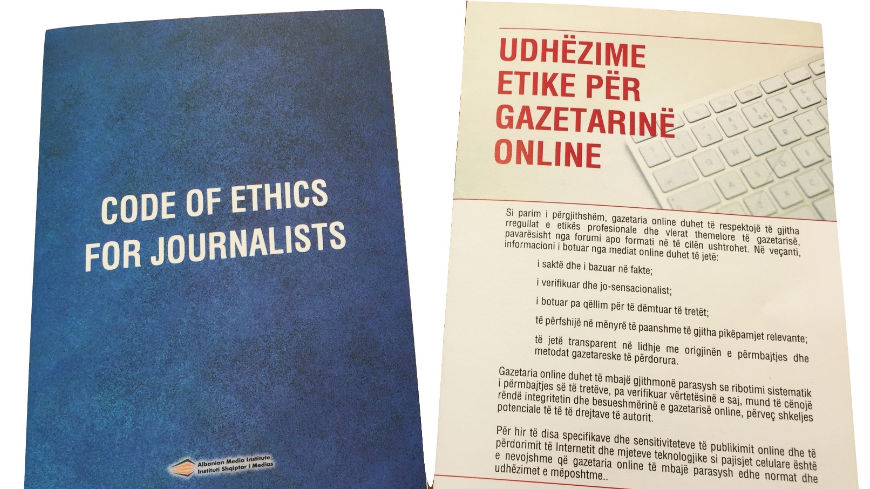 Albanian Journalistic Code of Ethics revised to reflect the