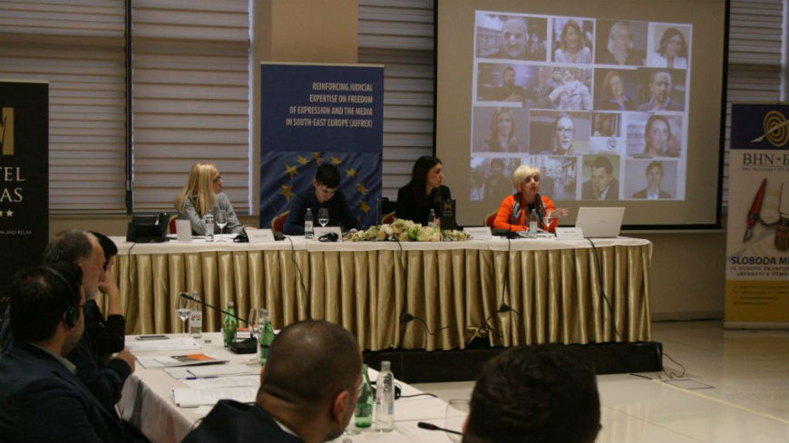 Inter-professional seminar on protection of journalists and freedom of expression through an efficient judiciary in Mostar