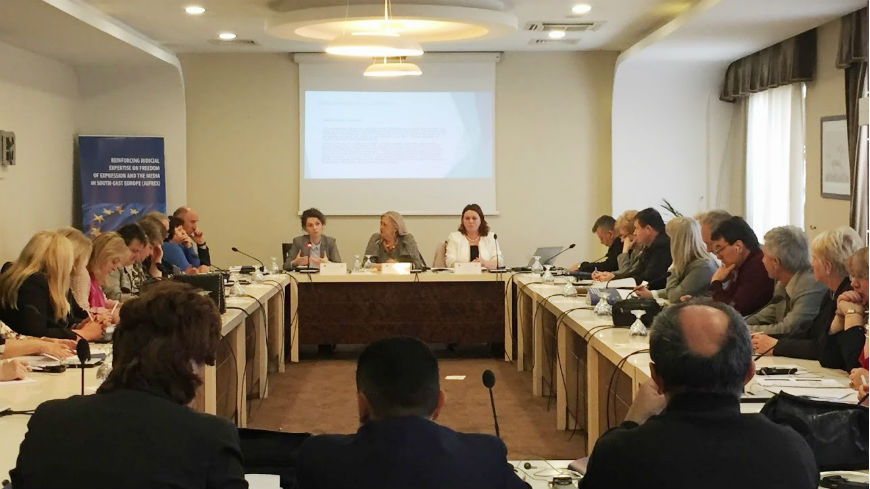 Training with judges and prosecutors on Freedom of Expression & Defamation - National and International Standards in Pristina