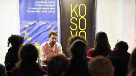 Media actors discussed physical and legal threats against journalists in Pristina
