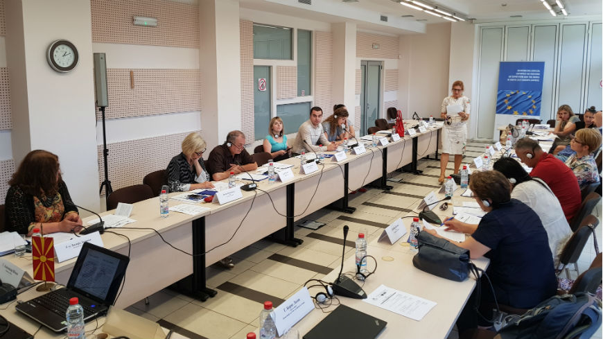 Training on freedom of expression and defamation took place in Skopje