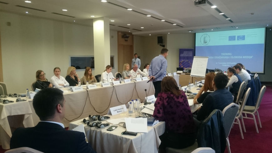 Training for lawyers on freedom of expression and freedom of the media in Podgorica, Montenegro