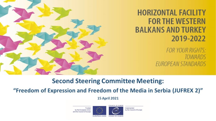 Freedom of Expression and Freedom of the Media in Serbia (JUFREX 2):  2nd Steering Committee meeting organised