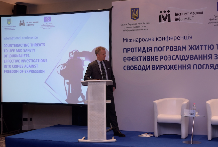 Council of Europe's international conference on safety of journalists and crimes against freedom of expression in Kyiv