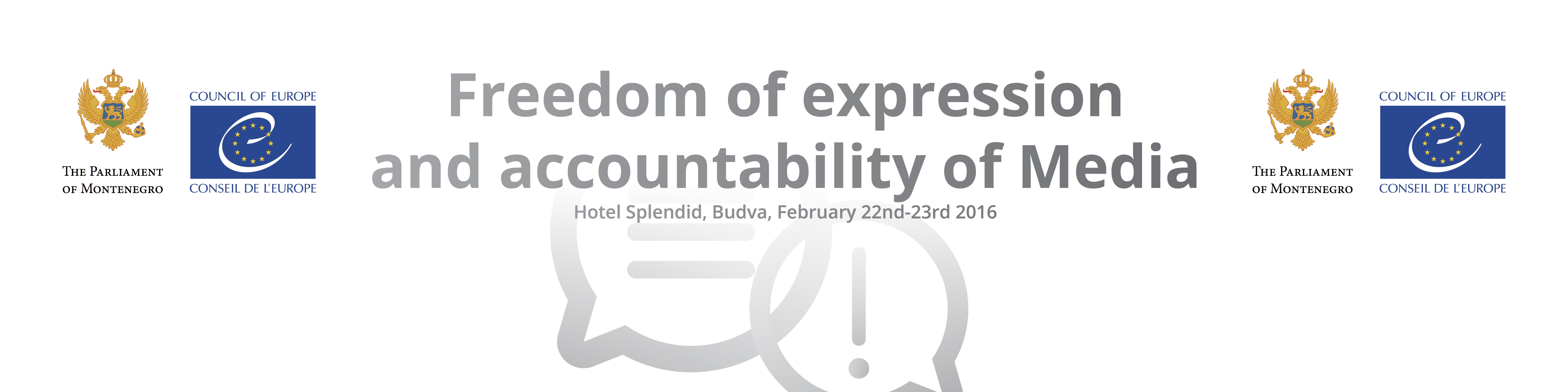 "Conference on ""Freedom of Expression and Accountability of Media"""