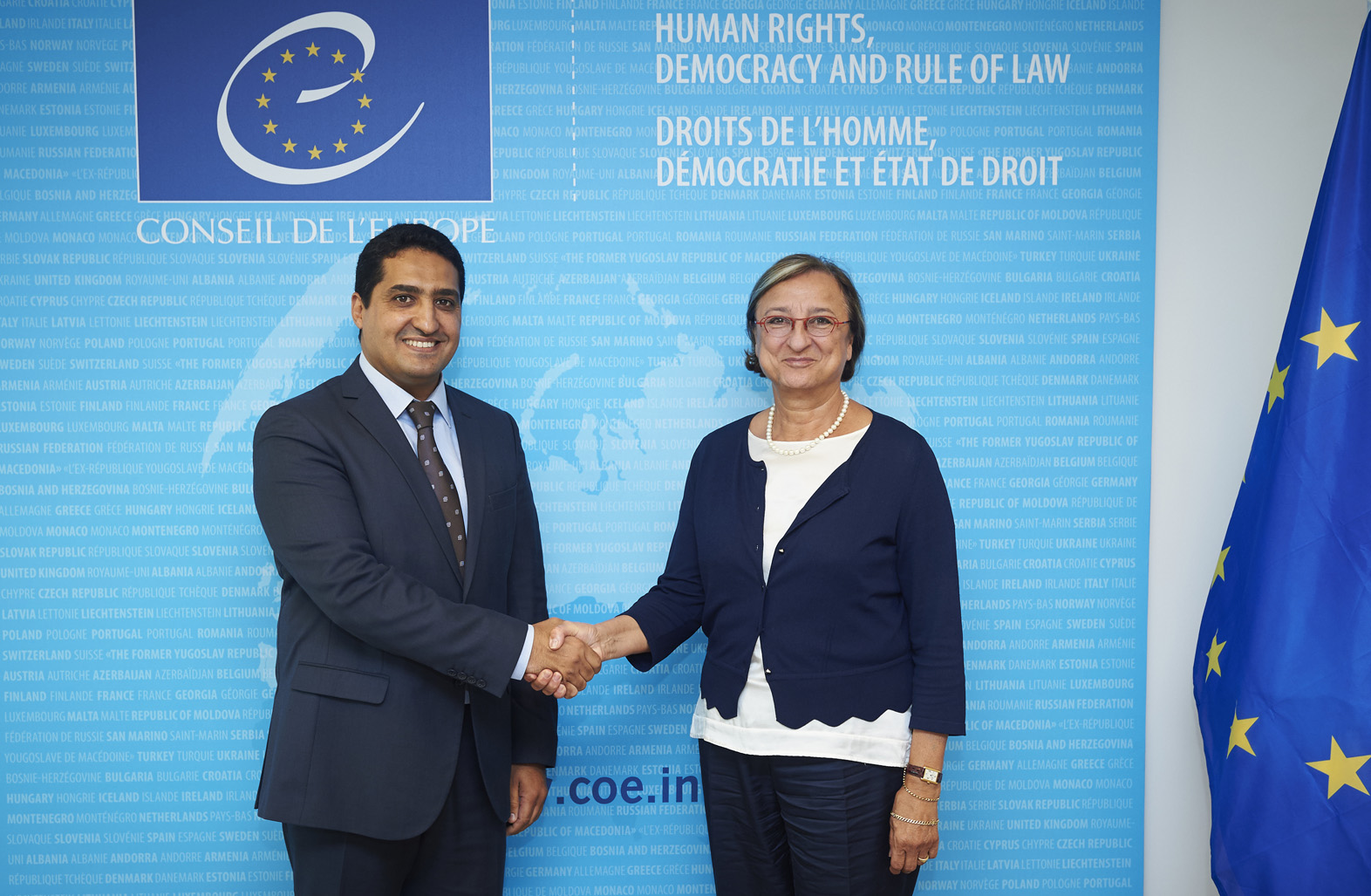 Gabriella Battaini Dragoni meets Secretary General of the Ministry of Communication of Morocco