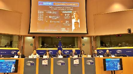 Threats to media freedom and journalists' security in Europe presented at the LIBE hearing in Brussels