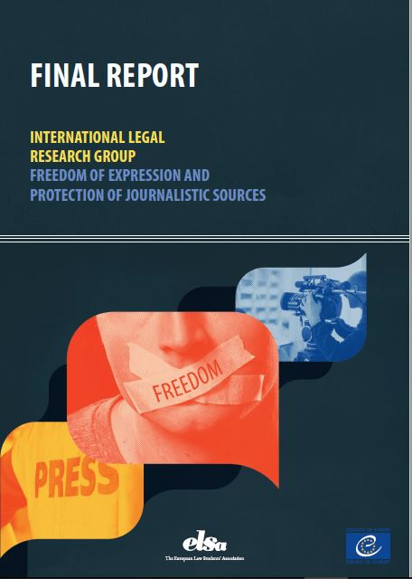 Final Report of the International Legal Research Group on Freedom of Expression and the Protection of Journalistic Sources