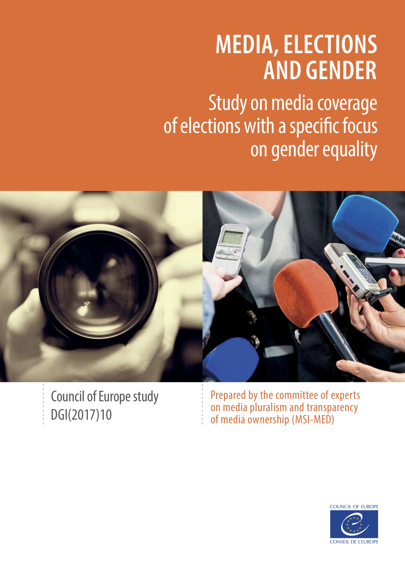 Media, Elections and Gender - Study on media coverage of elections with a specific focus on gender equality