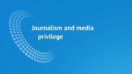 New report on journalism and media privilege by the European Audiovisual Observatory