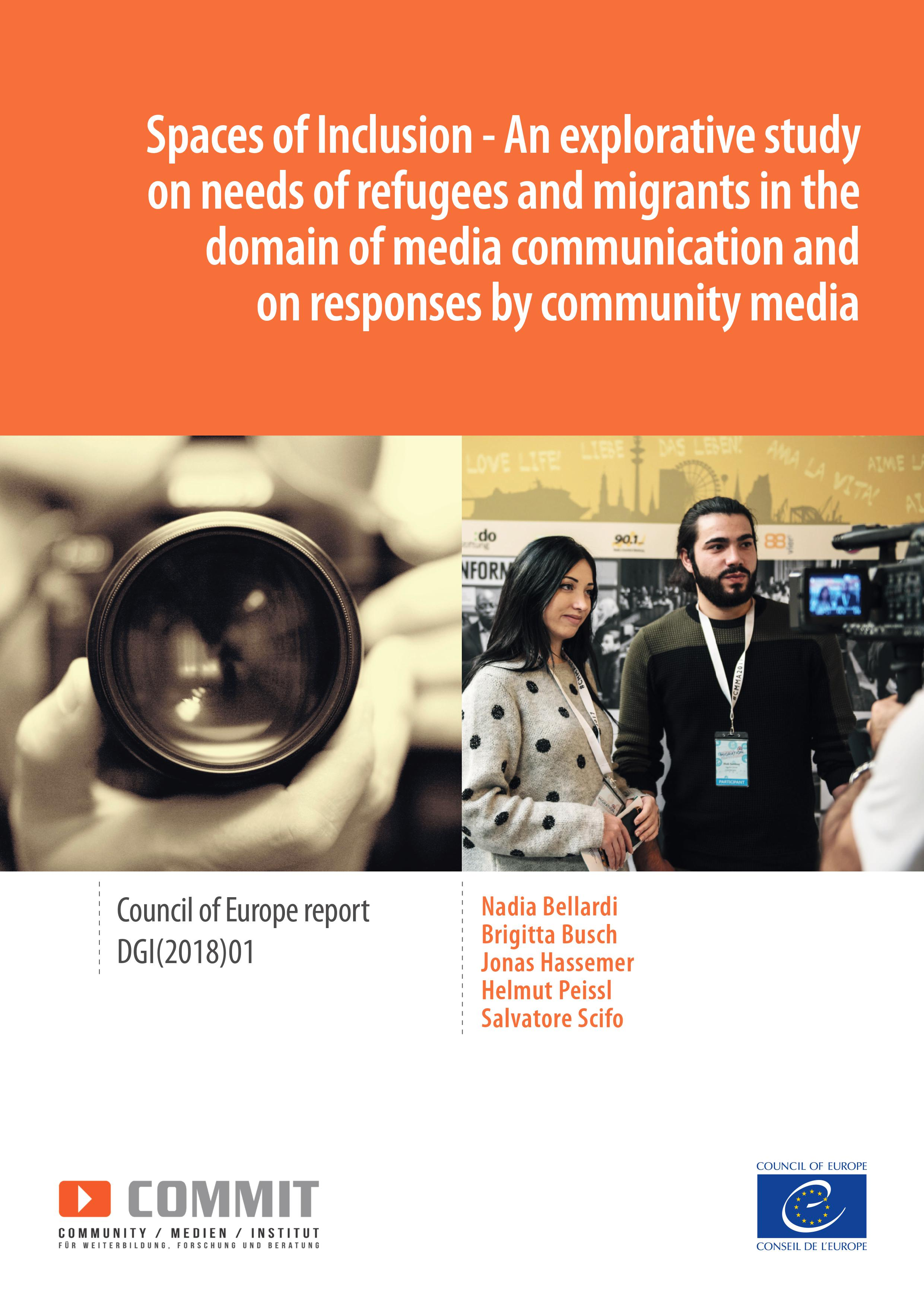 « Spaces of Inclusion - Needs of refugees and migrants in the domain of media communication and on responses by community media » (2018)