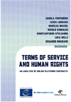 Terms of service and human rights: an analysis of online platform contracts
