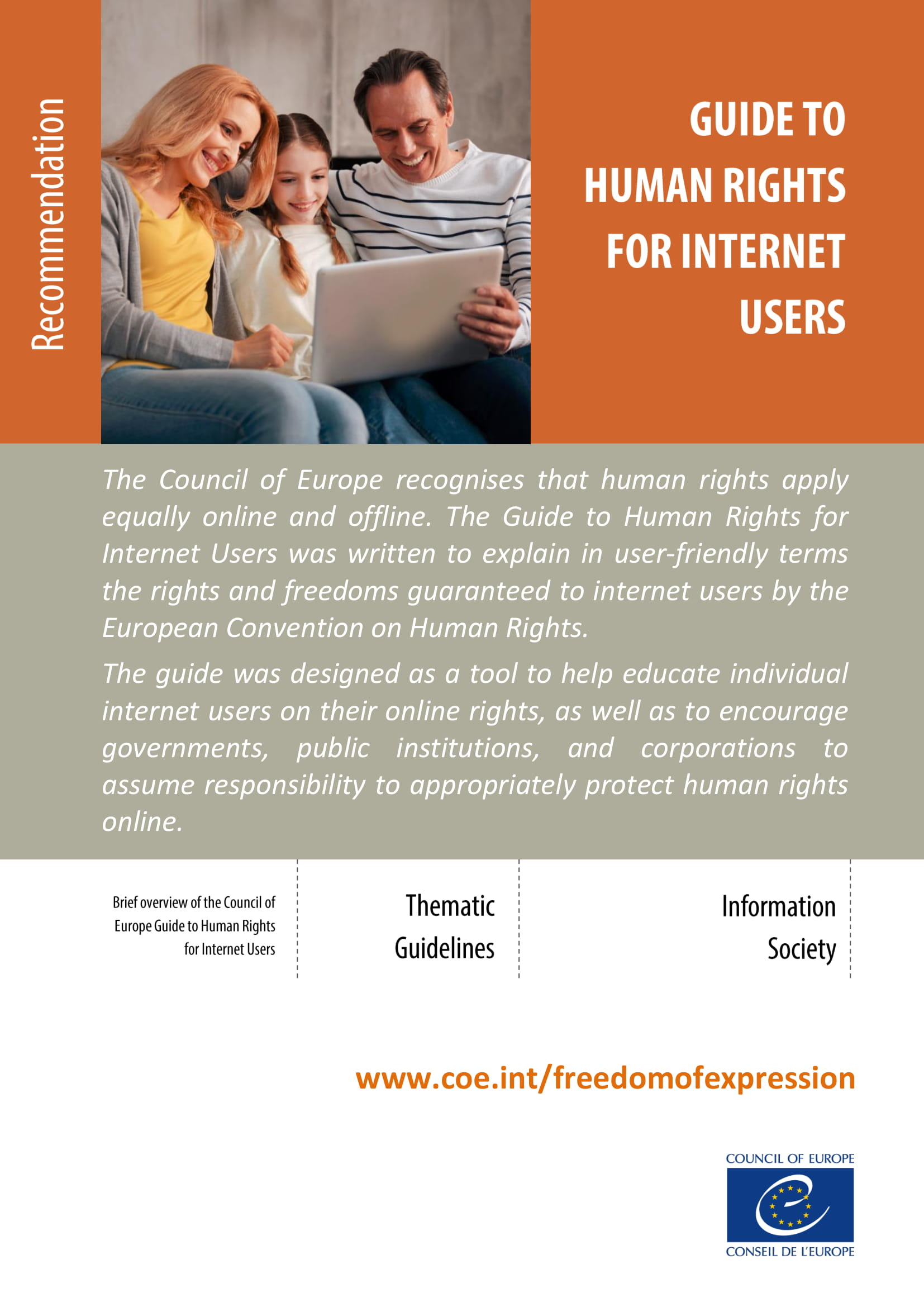 Guide to Human Rights for Internet Users