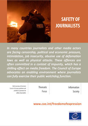 Safety of journalists
