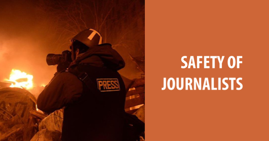 Safety of journalists - addressing challenges