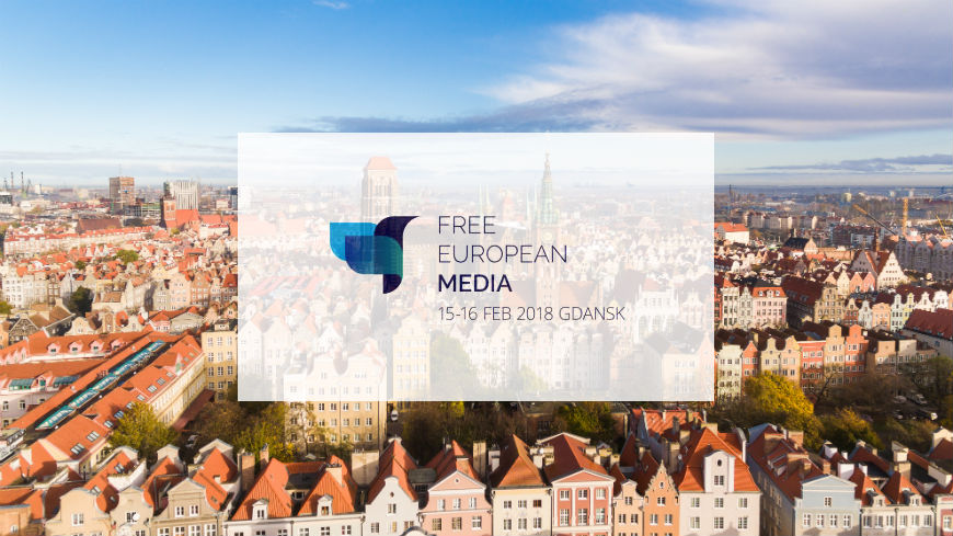 "Journalists gather for ""Free European Media"" in Gdansk"