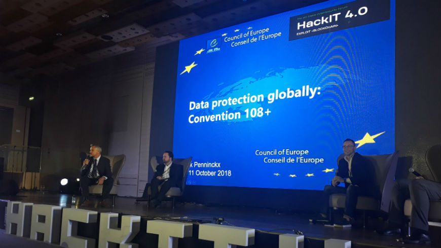 Convention 108+ presented at the 4th Global Cyber Security Forum HackIT in Kyiv