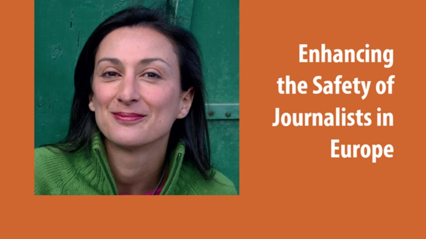 "Registration open for the event ""Enhancing the Safety of Journalists in Europe"""