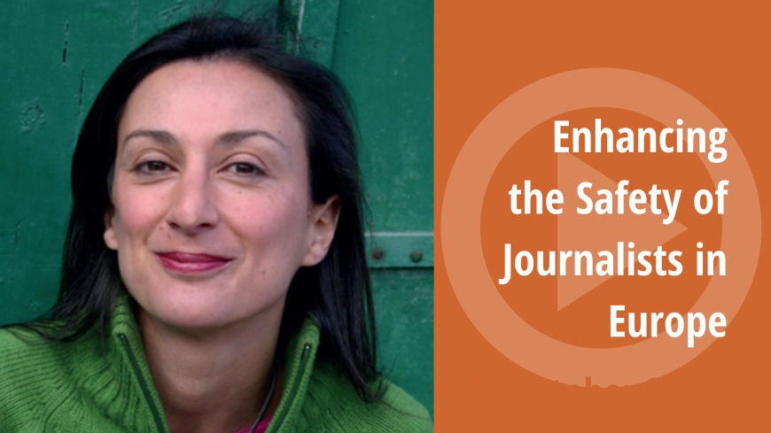 "The recording of the event ""Enhancing the Safety of Journalists in Europe"" is now available"