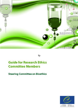 Guide for research ethics commitee members