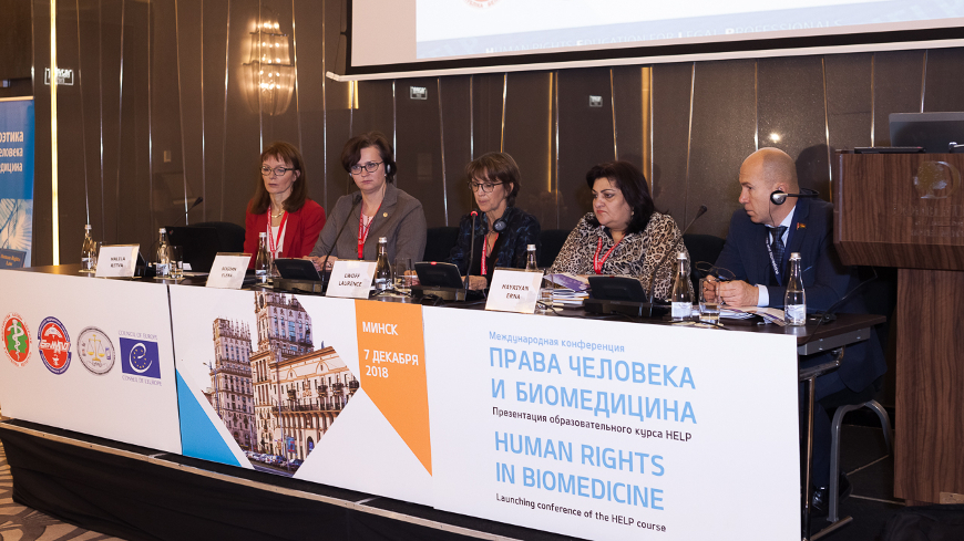 The HELP course on Bioethics presented and launched in Belarus