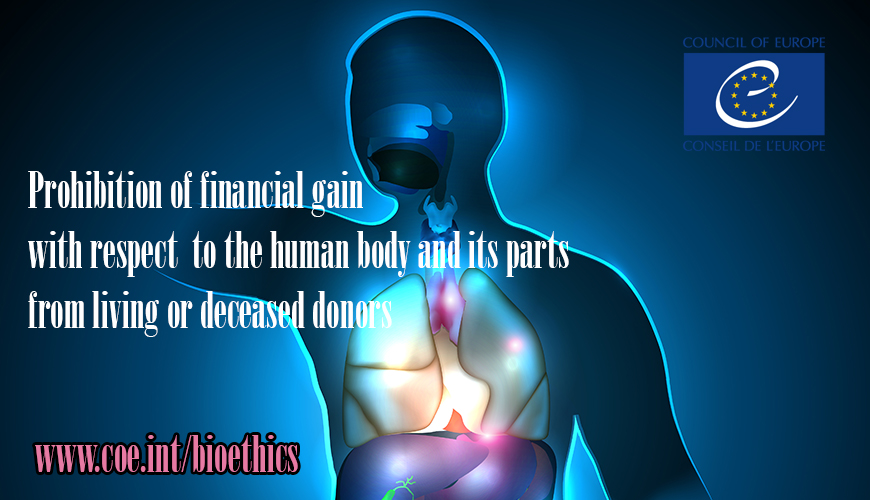 Organ and tissue donation: A guide to better understand the principle of prohibition of financial gain