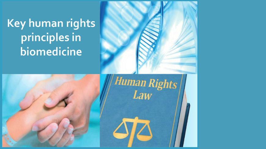 "Watch the live stream of the seminar on bioethics and the launch of the HELP course on ""Key Human Rights Principles in Biomedicine"""