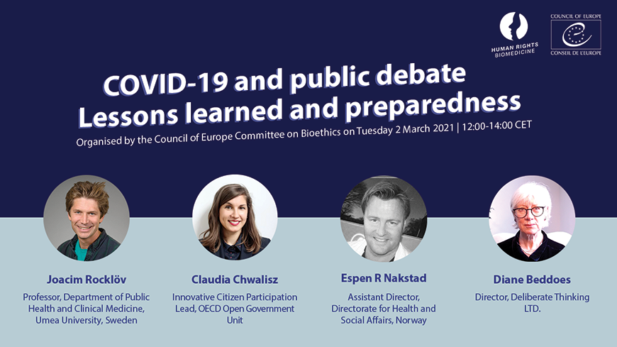 Webinar: COVID-19 and public debate - Lessons learned and preparedness