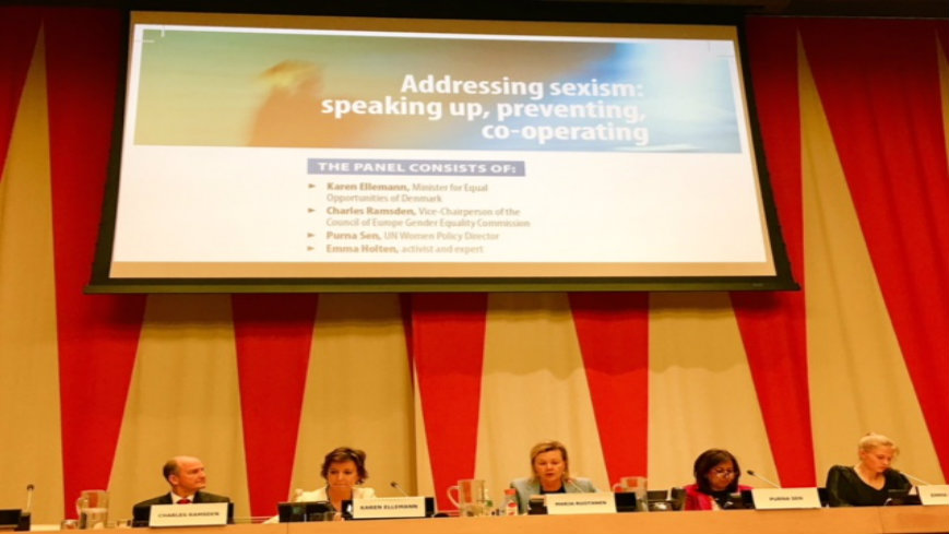 Council of Europe event at CSW on « Addressing sexism: speaking up, preventing, co-operating »