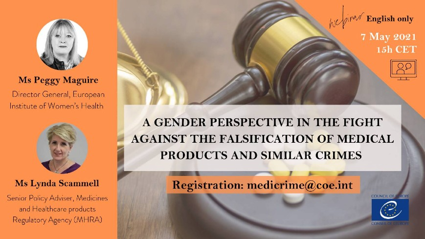 Gender perspective in the fight against the falsification of medical products and similar crimes