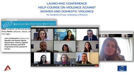 HELP online course on violence against women and domestic violence launched for Law students in Kosovo*