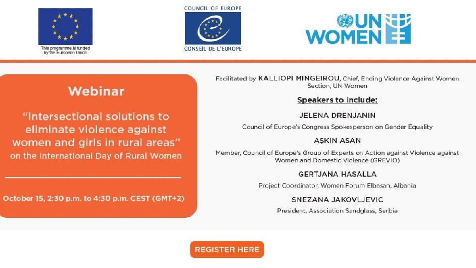 The European Union, the Council of Europe and UN Women are organizing a series of webinars on preventing and responding to violence against women