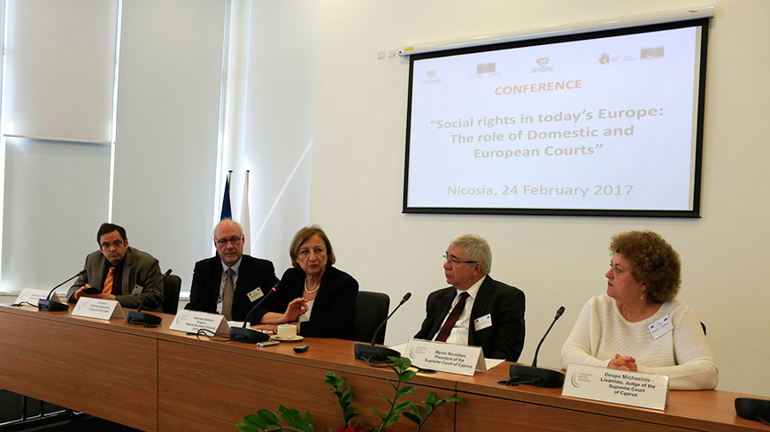 Strengthened social rights needed to face frustration in Europe: Cyprus conference
