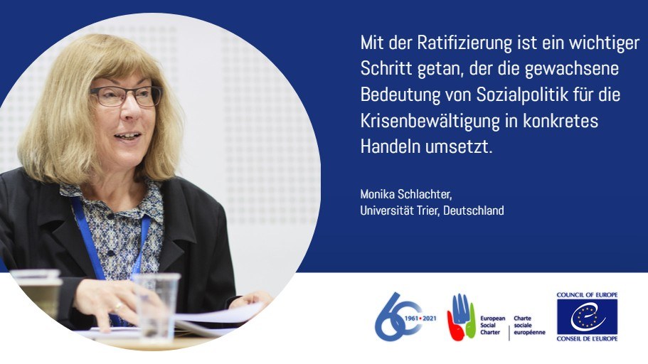 60 years of the European Social Charter, 25 years of the revised Social Charter - 	Germany's role in the renewal process
