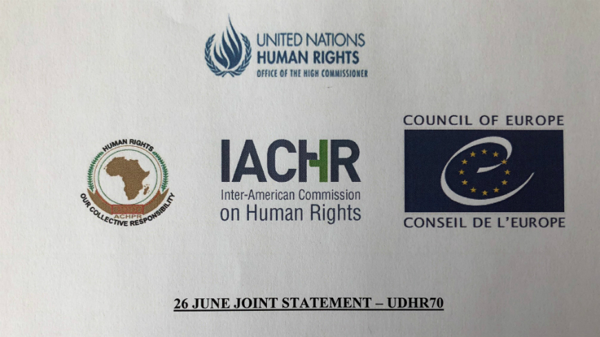"Joint statement on the occasion of the ""United Nations International Day in Support of Victims of Torture"""