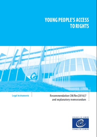 Cover page of the Council of Europe Committee of Ministers Recommendation on Young People's Access to Rights