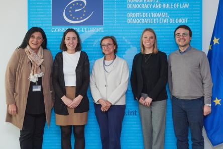 The new President of the European Youth Forum meets the Deputy Secretary General of the Council of Europe