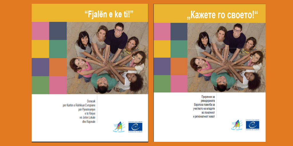 Have Your Say! manual in Albanian and Macedonian
