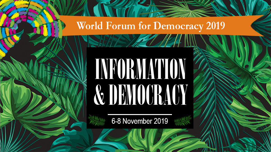 Call for applications: World Forum for Democracy 2019 - Youth Delegation