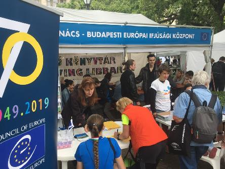 The EYCB's Living Library a big hit at the Budapest Europe Day Festival