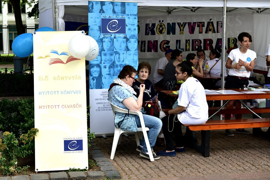 Living Library at the Europe Day Festival in Budapest