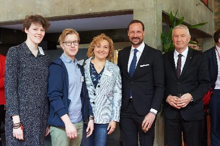 Crown Prince of Norway visits the European Youth Centre in Strasbourg