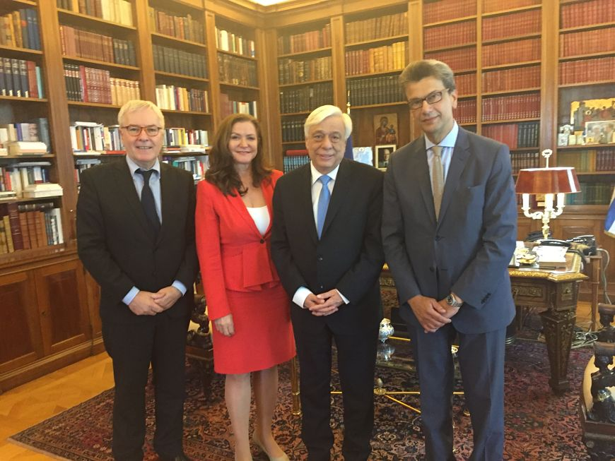 Congress President meets with the President of Greece, Prokopios Pavlopoulos