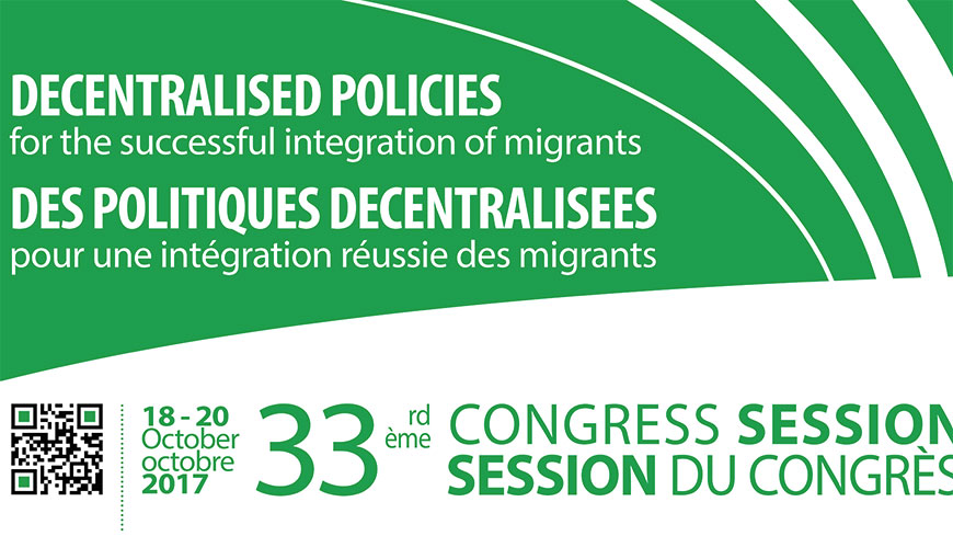 33rd Session of the Congress : unaccompanied refugee minors, local and regional democracy, situation in Catalonia and fight against corruption amongst the highlights
