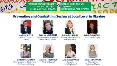 Preventing and Combatting Sexism at Local Level in Ukraine: A Guide for Women and Men in Local Politics