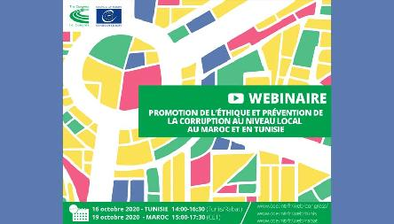 "Morocco and Tunisia: Webinars on ""Promoting Ethics and Preventing Corruption at Local and Regional Levels"""